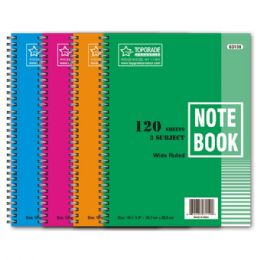 72 Units of 3 Subject 120 Count Notebook - Note Books & Writing Pads