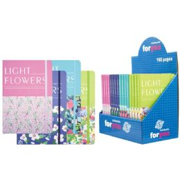 48 Units of Notebook Flower Pattern Assorted Color - Notebooks