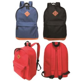 """24 Units of Backpack assorted colors - Backpacks 17"""""""
