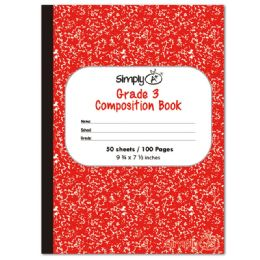 72 Units of 50 Count Primary Composition Book Red - Note Books & Writing Pads