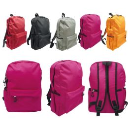 "24 Units of Backpack assorted colors 16"" - Backpacks"