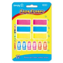 96 Units of Twelve Count Eraser Assorted Colors - Erasers
