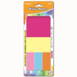 96 Units of 250 Count Stick Notes Asorted - Sticky Note & Notepads