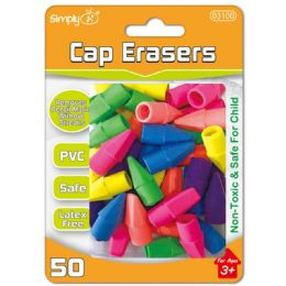 96 Units of Fifty Count Cap Eraser - Erasers