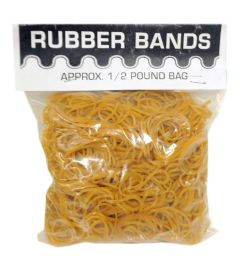 50 Units of HALF POUND RUBBER BAND POLY BAG - Rubber Bands