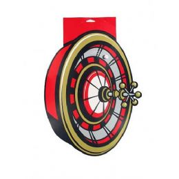 216 Units of roulette wheel cardboard cutout 17 x 13 inch - Party Novelties