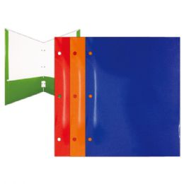 144 Units of Two Pocket Paper Folder With Three Rings - Folders and Report Covers