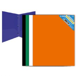 120 Units of Two Pockets Poly Folder With Three Prongs - Folders and Report Covers