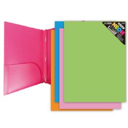 96 Units of 2-Pockets Poly Folders W/3 Prongs - Folders and Report Covers