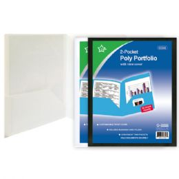 96 Units of Two Pockets Poly Folder With View Cover - Folders and Report Covers