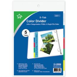 96 Units of Three Ring Binder Dividers With Five Tabs - Tab Dividers