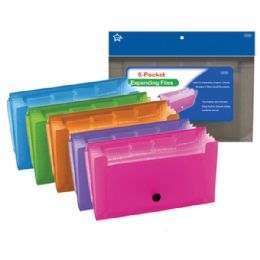 96 Units of Five Pocked Coupon Holder Check Size - Folders and Report Covers