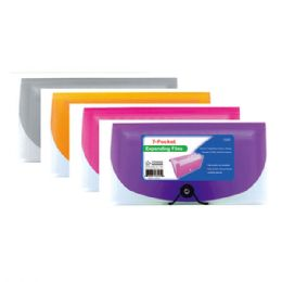 96 Units of Seven Pocked coupon holder check size - Folders and Report Covers