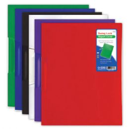 144 Units of Swing Lock Report Cover Letter Size Assorted Color - Folders and Report Covers