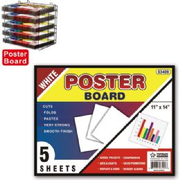 96 Units of Poster board white - Poster & Foam Boards