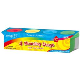 72 Units of 4 Piece Modeling Clay Dough - Clay & Play Dough