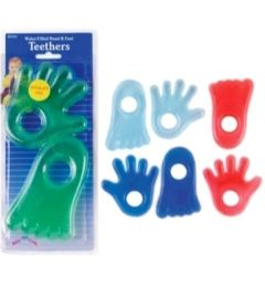 144 Units of Water Hand & Foot Teether 2 Pack - Baby Toys