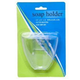 72 Units of Soap Holder Suction Mount For Shower/clear Plastic Hbablst - Soap Dishes & Soap Dispensers
