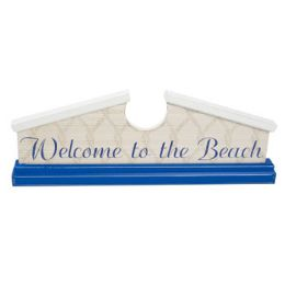 48 Units of Welcome Sign 18 X 6.5 Wooden Welcome To The Beach - Signs & Flags