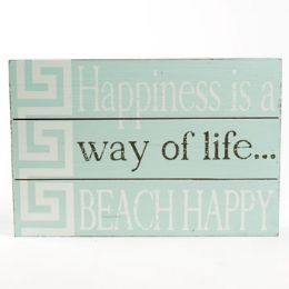 36 Units of Wall Sign 7.25x11.75 Beach Happy Wooden - Signs & Flags