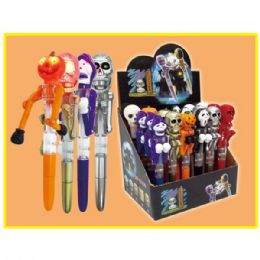 96 Units of Halloween Punching Pen With Flash - Halloween & Thanksgiving