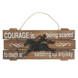 48 Units of 15.5x7 Courage Cowboy Wooden - Signs & Flags