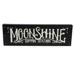 24 Units of Wall Decor Led Light Moonshine 18.75 X 6 Wooden - Signs & Flags