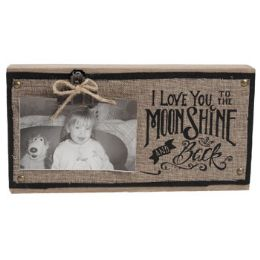 36 Units of Moonshine Wooden Photo Clip 12.75 6.75 - Signs & Flags