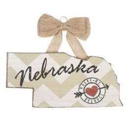 72 Units of Wall Sign 5.5 Inch Nebraska Wooden - Signs & Flags
