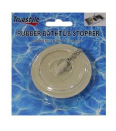 24 Units of Rubber Bathtub Stopper With chain - Shower Accessories