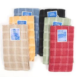 144 Units of Dish Cloth 15x15 6 Asst Colors - Kitchen Towels
