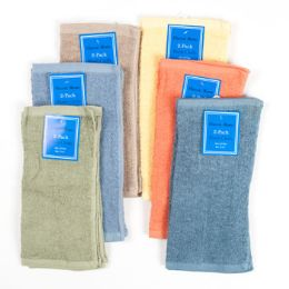 144 Units of Wash Cloth 2pk 12x12 5 Asst Colors - Kitchen Towels
