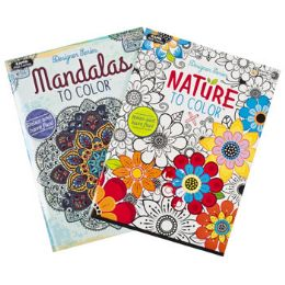 48 Units of Coloring Book Adult 32pg 2 Asst Nature & Mandalas - Coloring & Activity Books