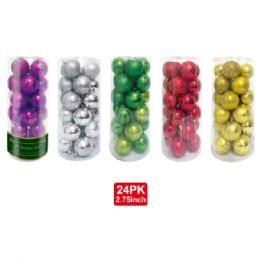 16 Units of 24 Pack/70mm x'mas ball - Christmas Decorations