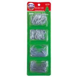 96 Units of 300 Count ornarment hooks - Christmas Decorations