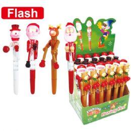 96 Units of X'mas flash ball pen - Christmas Novelties