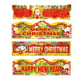 "96 Units of 33"" X'mas 3D banner - Christmas Novelties"