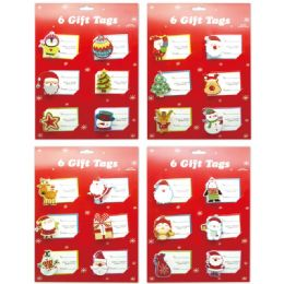 96 Units of 60 Count x'mas gift tag - Christmas Gift Bags and Boxes