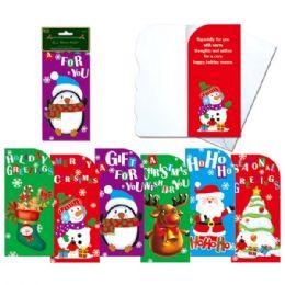 144 Units of 6 Piece money holder w/envelope - Christmas Novelties