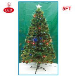 5 Foot optical fiber tree pre-lit LED UL - Christmas Ornament