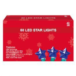 36 Units of 50L LED star blue UL - Christmas Decorations