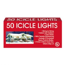 24 Units of 50L icicle twincle color UL - Christmas Decorations