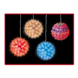 "12 Units of 6"" 100L ball clear&mulit UL - Christmas Decorations"