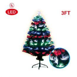 6 Units of 3 Foot optical fiber tree pre-lit LED UL - Christmas Ornament