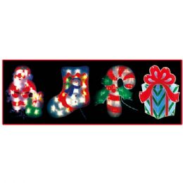 "24 Units of 14""-20l Sculpture/stocking - Christmas Stocking"