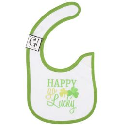144 Units of Happy Go Lucky Baby Bib - Baby Apparel