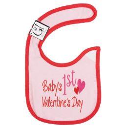 144 Units of First Valentine's Day Baby Bib - Baby Apparel
