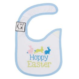 144 Units of Baby Bib Happy Easter 12.5 X 8 Cotton - Baby Accessories