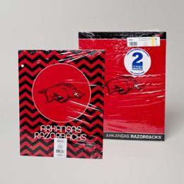 216 Units of Portfolio 2pk Ark Razorbacks Classic/fashion - Folders and Report Covers