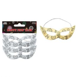 96 Units of 3 Pack new year mask - New Years